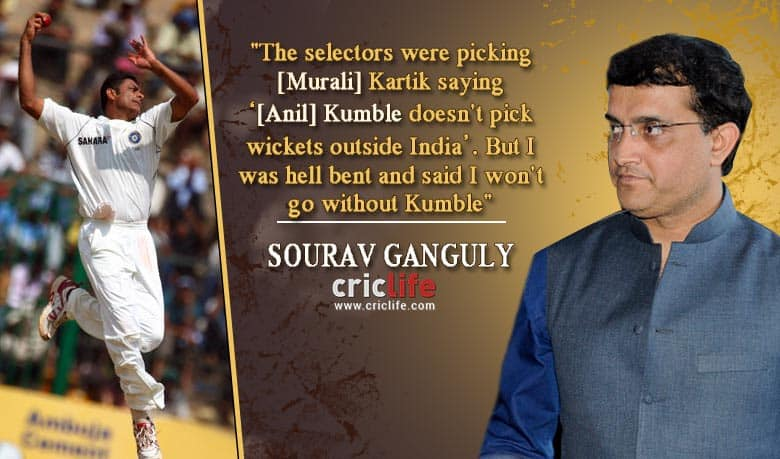 When Sourav Ganguly put his captaincy on stake for Anil Kumble