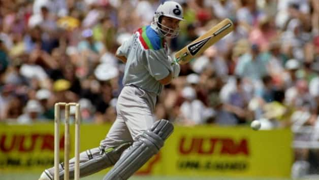 Martin Crowe playing the World Cup prior to Australia's tour of New Zealand 1993 © Getty Images