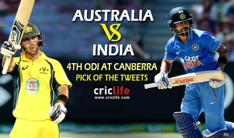 Pick Of The Tweets Australia Vs India 4th Odi At Canberra