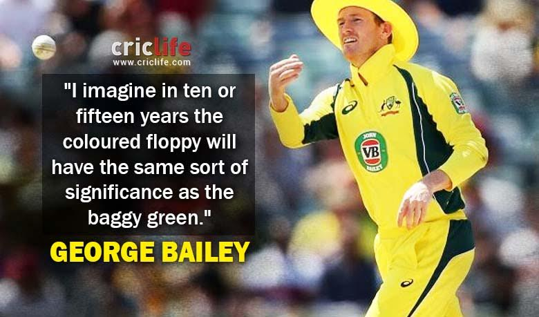 ec85b3c3 Now, George Bailey talks about his much talked about yellow wide-brimmed floppy  hat