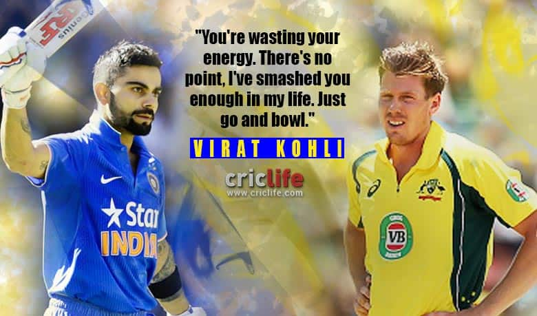 Virat Kohli's advice to James Faulkner