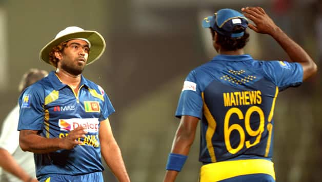 Lasith Malinga (left) and Angelo Mathews had suffered a back injury and were doubtful for the upcoming mega-event © IANS (File Photo)