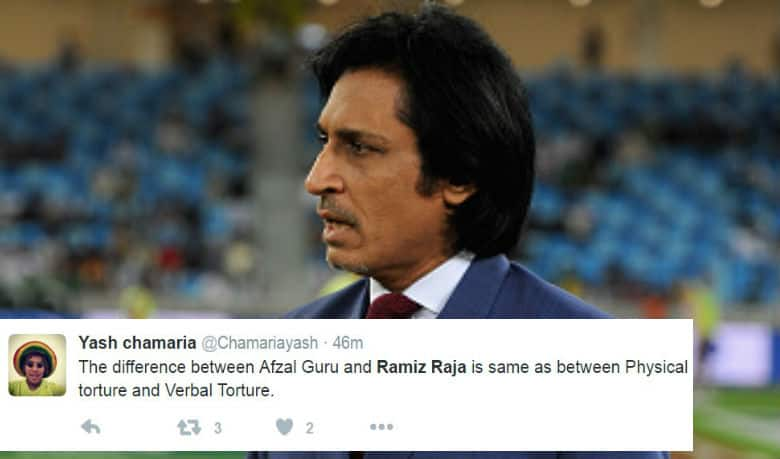 Rameez Raja does it again! Ensures he trends on Twitter for his commentary gems