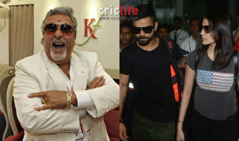 Revealed: Vijay Mallya the actual reason behind 'broke' Virat Kohli and Anushka Sharma' break up