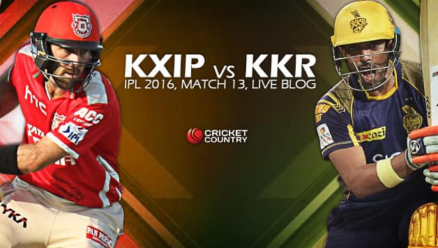 Kxip Will Be Up Against Kkr In The Th Match Of The Ipl