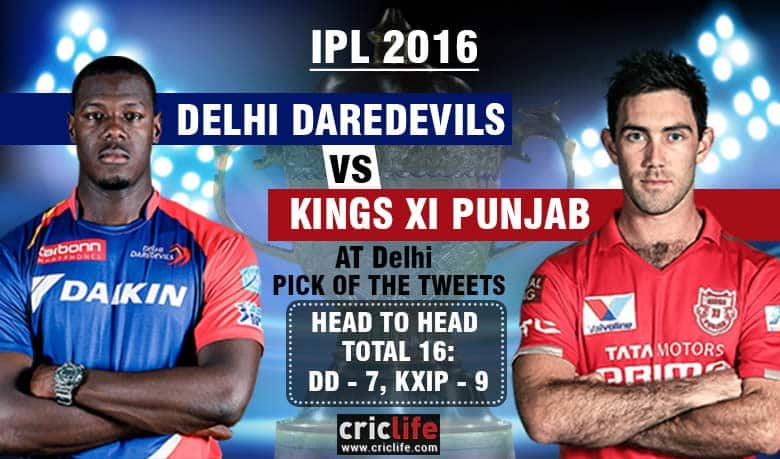 IPL 2016, March 7, Pick of the tweets: Delhi Daredevils vs Kings XI Punjab at Delhi