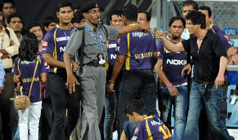 Shahrukh Khan had a brawl at the Wankhede Stadium during an IPL game. Photo courtesy: Twitter.