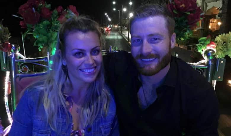 Martin Guptill with wife Laura McGoldrick
