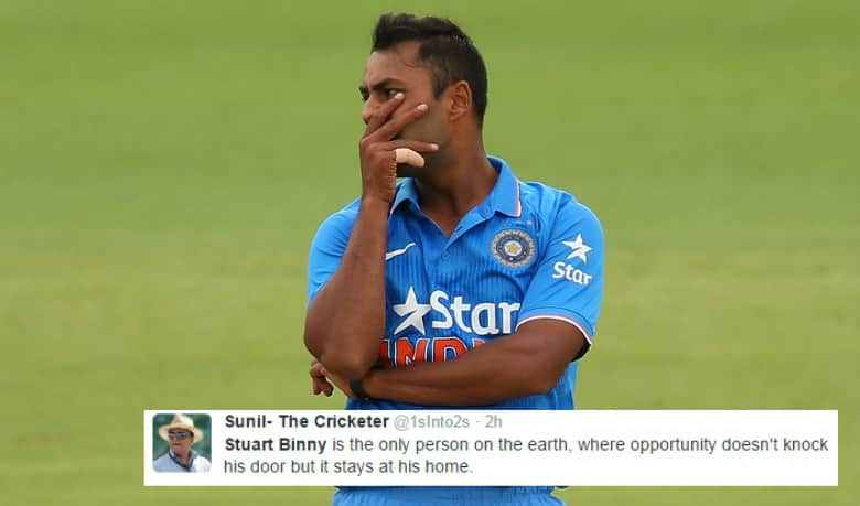 Twitterati troll Stuart Binny over his Test selection for West Indies tour