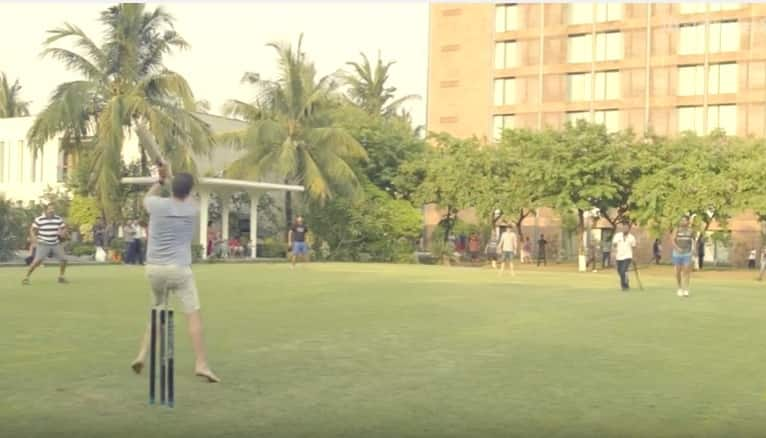 Video: 'Kolkata Knight Riders' unwind with lawn-cricket on day off