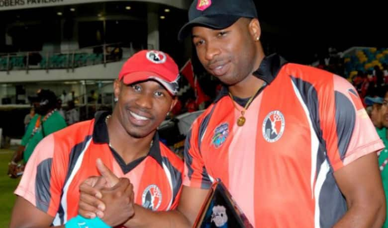"""Dwayne Bravo fined for his """"friendly push"""" Kieron Pollard; both cricketers tweet about the incident"""