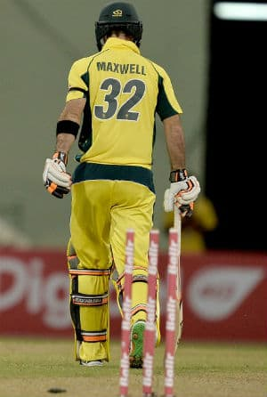 Glenn Maxwell was dropped from the Australian team after scoring three runs in the first two matches © AFP
