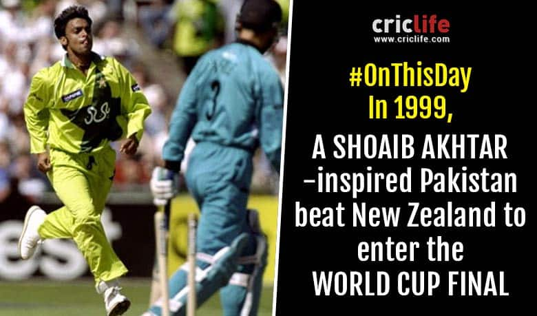 VIDEO: When a fiery Shoaib Akhtar bowled Pakistan to the World Cup Final