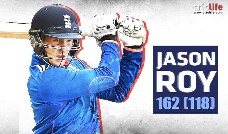 Infographic: Jason Roy's 162 and some remarkable feats