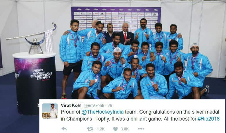 Virat Kohli, Virender Sehwag and others give Indian Hockey Team a pat on the back