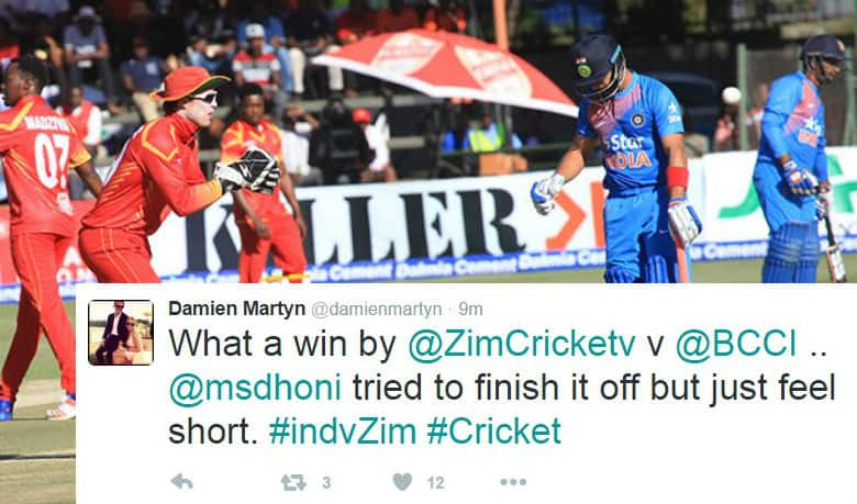 Twitter reacts to Team India's shocking loss against Zimbabwe in the first T20I
