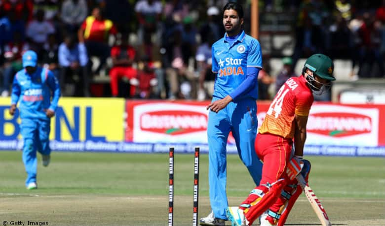 Watch Barinder Sran's four-wicket haul on debut against Zimbabwe in the 2nd T20I at Harare