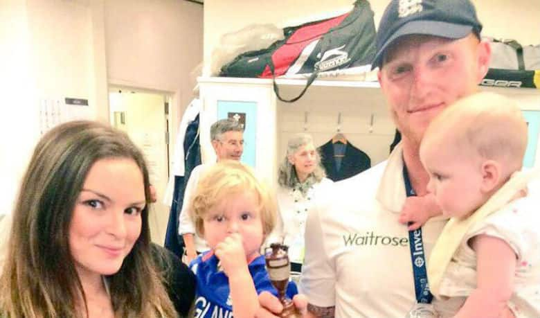 Ben Stokes with his wife Clare Ratcliffe and two sons. Image courtesy: Clare Ratcliffe (Facebook)