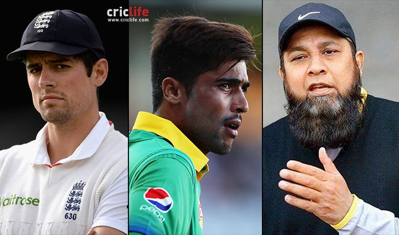 Alastair Cook upsets Inzamam-ul-Haq with his comments on Mohammad Amir