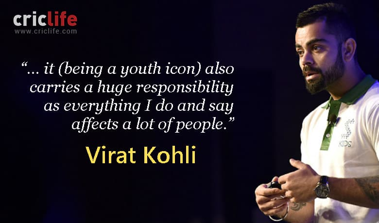 Virat Kohli opens up on being a 'youth icon'