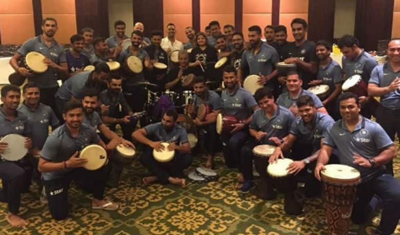 Virat Kohli, MS Dhoni and other Indian players bond over music