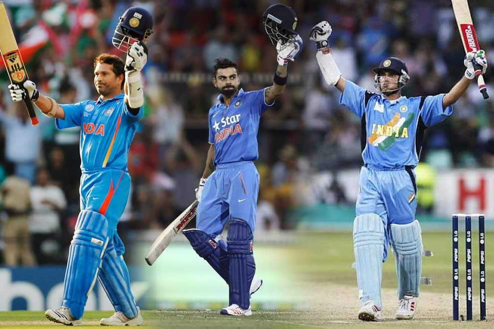 India, Australia and other teams with most centuries in ODI Cricket