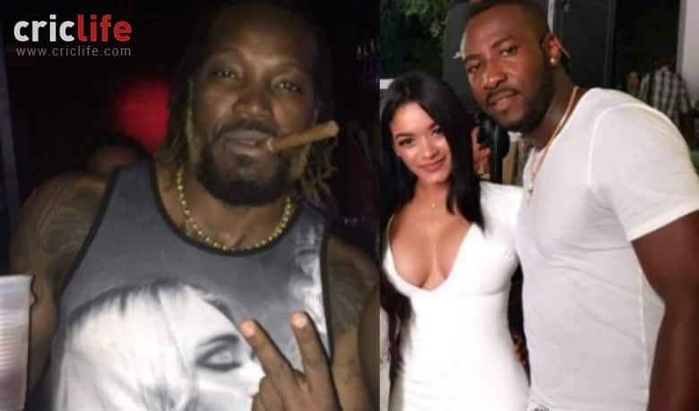 """""""Boss"""" Andre Russell and wife Jassym Lora's """"dope pic""""; while """"Universe Boss"""" Chris Gayle poses with a """"friend"""""""