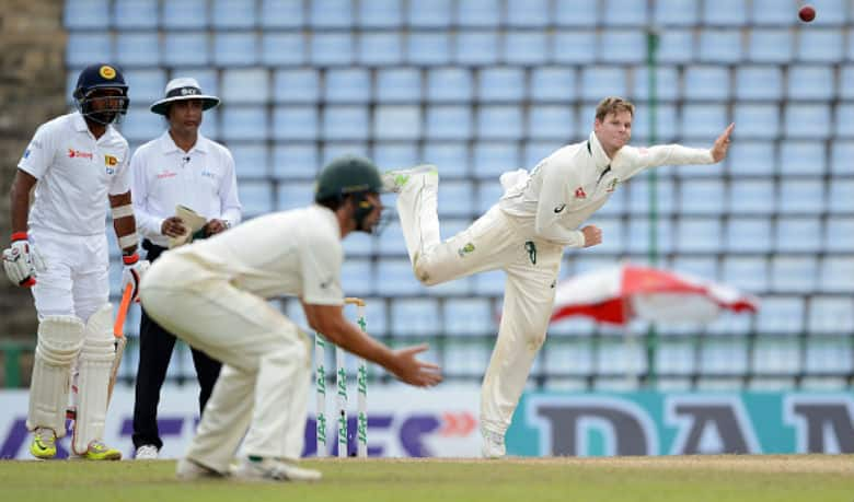 Giving it all… Steven Smith is as hardworking as any top flight cricketer © AFP