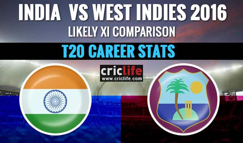 India vs West Indies, 1st T20I at Lauderhill, Florida: Likely XI comparison