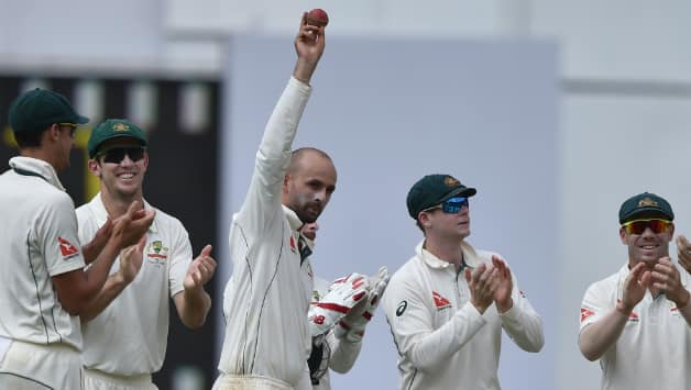 Nathan Lyon registered the best figures for an overseas spinner in India © IANS