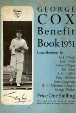 George Cox's brochure issued by Sussex County Cricket Club.