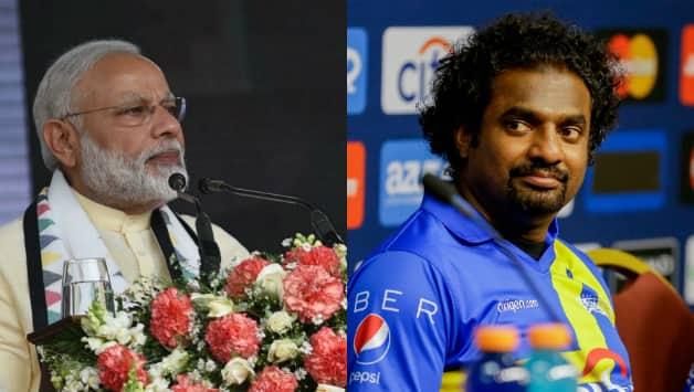 Narendra Modi (left) and Muttiah Muralitharan © IANS & Getty Images