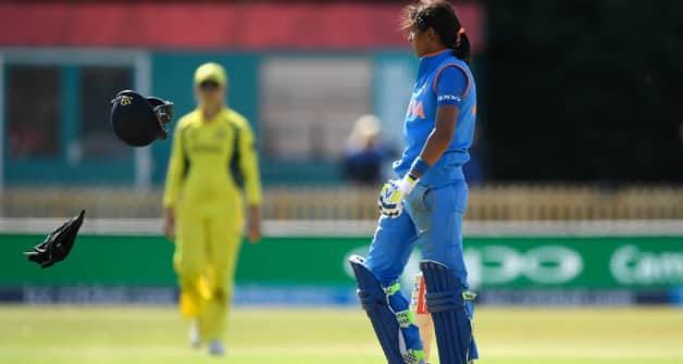 India set Australia 282 to win after Harmanpreet Kaur hits ton