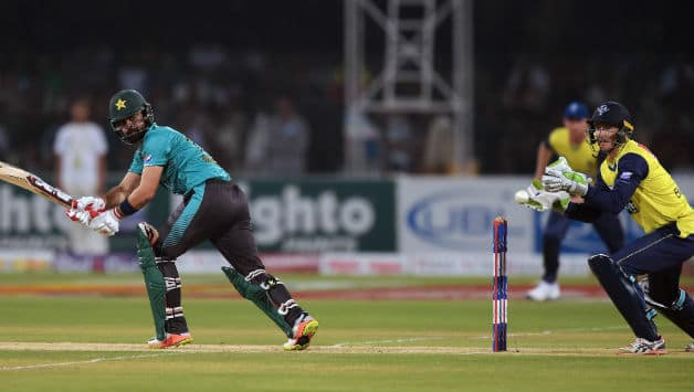 Ahmed Shehzad top scored with 89 © AFP