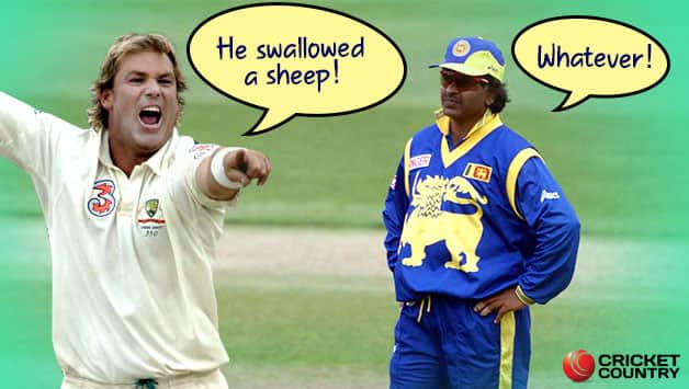 Shane Warne never missed an opportunity to take a dig at Arjuna Ranatunga (Image courtesy: Getty)