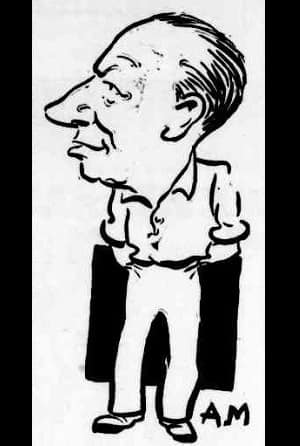 Don Bradman, as caricatured by Arthur Mailey
