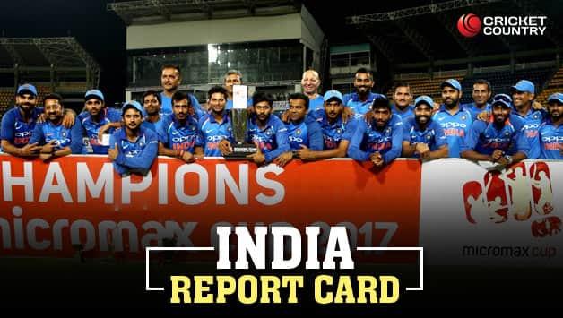 Indian cricket team after their ODI series whitewash over Sri Lanka © IANS