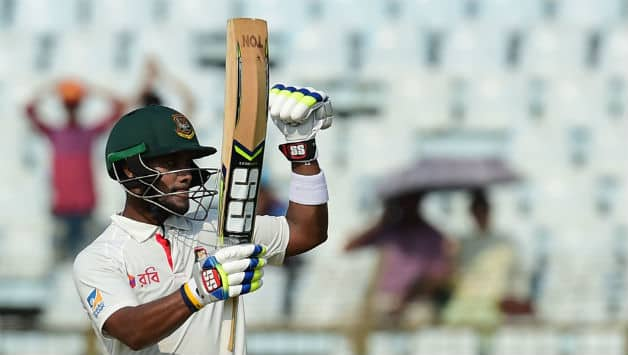 Sabbir Rahman added a vital stand with Mushfiqur Rahim © AFP