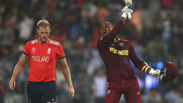 Ben Stokes (L) and Marlon Samuels from ICC World T20 2016 final © Getty Images