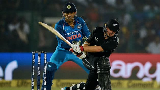 Tom Latham almost rescued New Zealand. Although the require run rate shot up, Latham made sure they do not lose the plot. However, his efforts vent in vain when Bumrah ran him out. © AFP