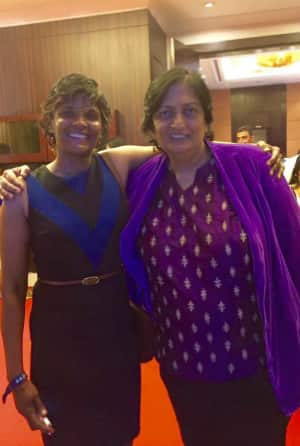 As Mamatha Maben says, 'with the legend'... Photo Courtesy: Mamatha Maben's Facebook Page