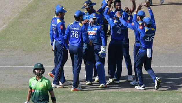 Sri Lanka invited Pakistan to bat and soon Ahmed Shehzad departed for a 12-ball duck (Image courtesy: AFP)
