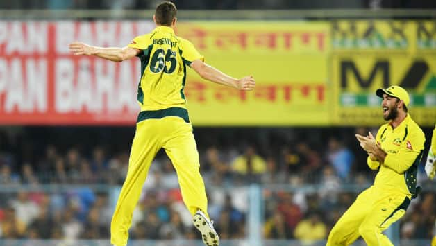 Jason Behrendorff finished with 4 for 21 © AFP