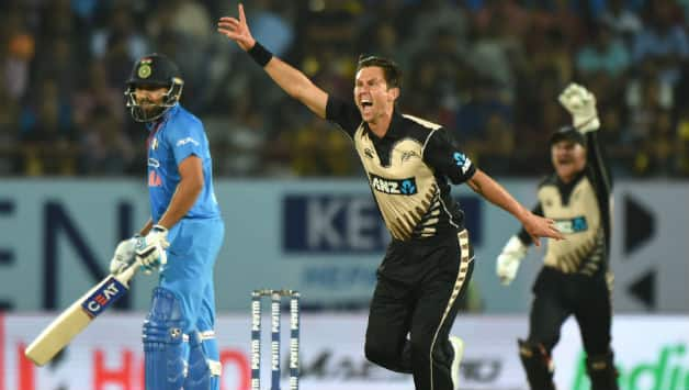 Trent Boult took a four-wicket haul to restrict India for 156 for 7