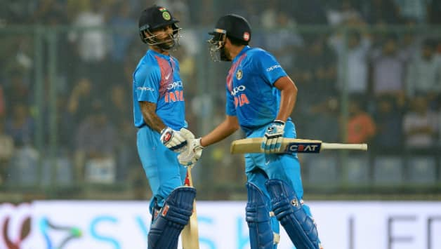 Shikhar Dhawan and Rohit Sharma were involved in the highest opening stand for India in T20Is © AFP