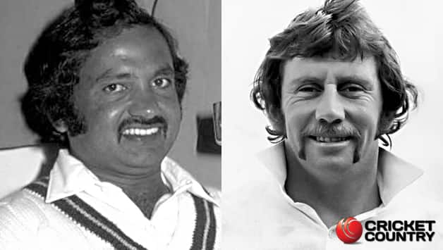 From left: Mushtaq Mohammad and Ian Chappell © Getty Images