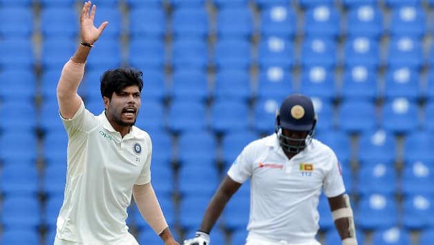 Umesh Yadav finally got wickets at his home-ground on Day Four. He finished with 2 wickets from the match © AFP