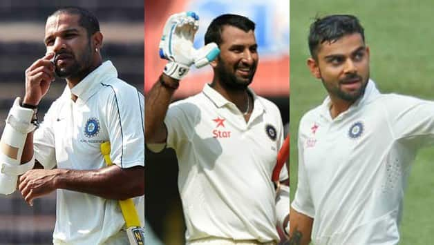 Virat Kohli, Cheteshwar Pujara, Shikhar Dhawan will have a fight to score most century in test series vs Sri Lanka