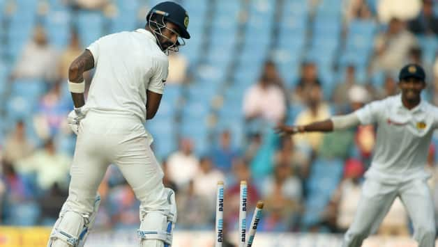 Lahiru Gamage got rid of an in-form KL Rahul for 7 © AFP