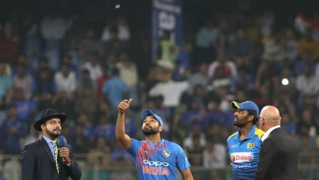 Rohit Sharma finally won a toss. As is the trend in the Wankhede Stadium, India elected to bowl (Image courtesy: IANS)